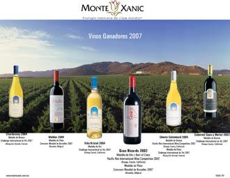 Aqui estan los vinos ganadores 2007 (Monte Xanic)