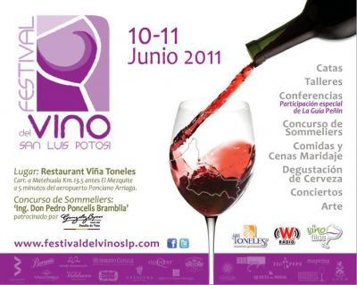 Venga al festival de vinos en San Louis Potosi en Junio